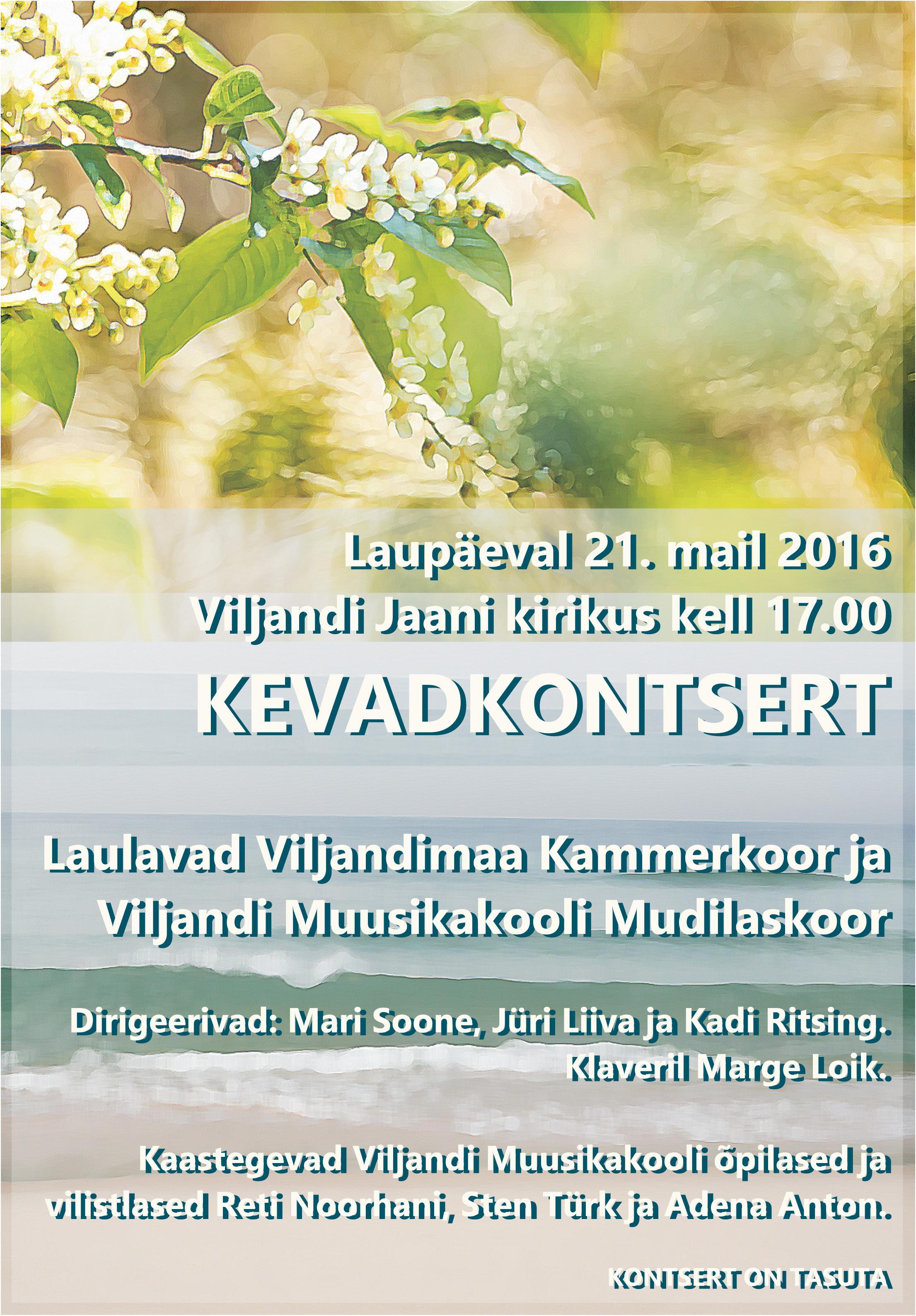 Kevadkontserdi plakat